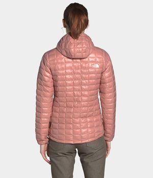 Chamarra Con Gorro Thermoball Eco Mujer Rosa